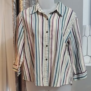 Alfred Dunner button down shirt size 14P